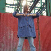 مانتو قشقایی پاییزه آبی