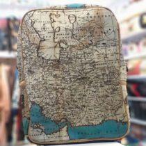 کوله پشتی مخملی هنری نقشه جهان