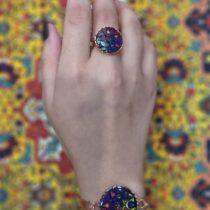 ست دستبند و انگشتر مسی